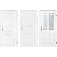 Profilirana notranja vrata Beli lak COMO