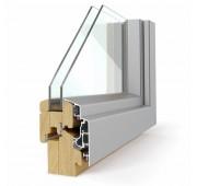 Lesena okna LES ALU ELEGANT 68