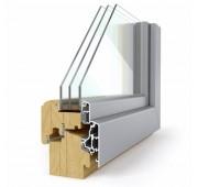 Lesena okna LES ALU ELEGANT 78 Comfort