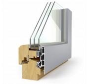 Lesena okna LES ALU ELEGANT 78 Modern