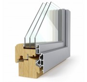 Lesena okna LES ALU ELEGANT 92 Comfort