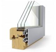 Lesena okna LES ALU ELEGANT 92 Modern