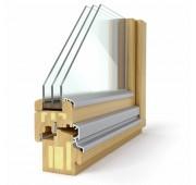 Lesena okna PASIVNO SOLUTION 78