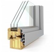 Lesena okna PASIVNO SOLUTION 92 Elegant